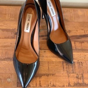 Steve Madden Proto Black Leather Heel